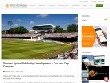Fantasy Sports Developers and Fantasy Sports Solution