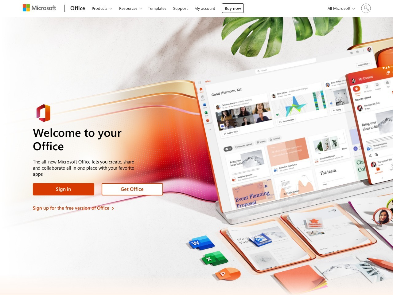 Inicio de sesión de Office 365 | Microsoft Office