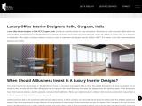 Luxury Office Interior Designers in Gurgaon | Delhi | India