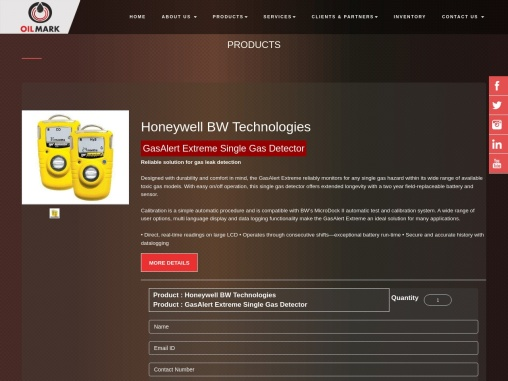 Buy Bw Technologies Gas Detector In UAE