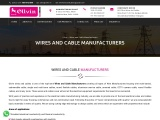 Wires and Cable Manufacturers in India