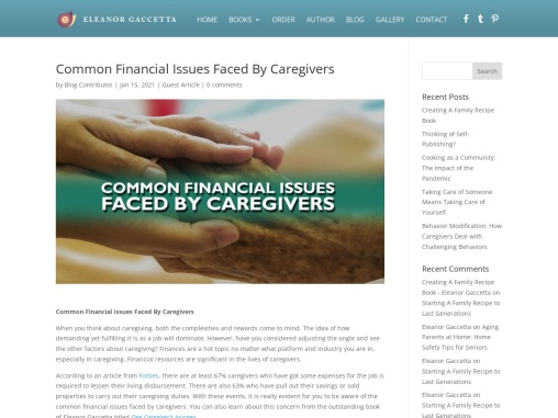Common Financial Issues Faced By Caregivers By  Eleanor Gaccetta