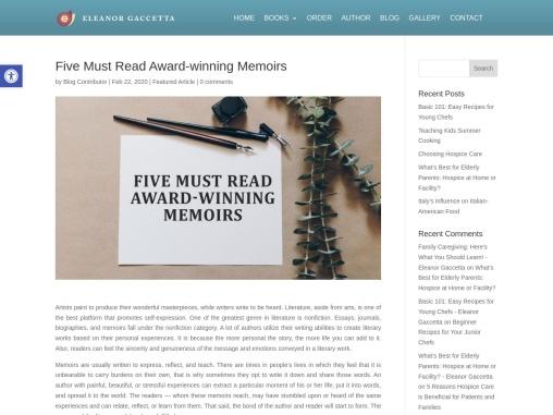 Five Must Read Award-Winning Memoirs – Eleanor Gaccetta