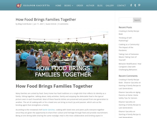 How Food Brings Families Together