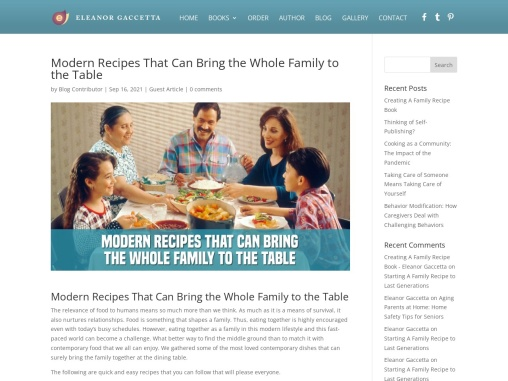 Modern Recipes That Can Bring the Whole Family to the Table