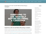 Questions to Ask Yourself Before Becoming a Caregiver – Eleanor Gaccetta