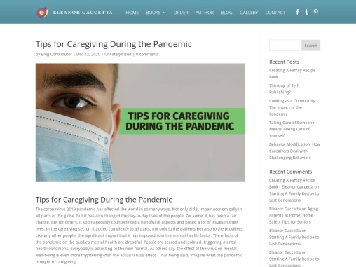 Tips for Caregiving During the Pandemic – Eleanor Gaccetta