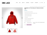 INFRARED COTTON ONELACE THREAD HOODED TOP