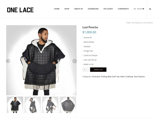 Lost Poncho | Men's Stylish Clothes at Onelace