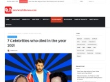 7 Celebrities who died in the year 2021