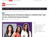 Nutrition Tips for Healthy Hair by Kareena Kapoor's nutritionist Rujuta Diwekar