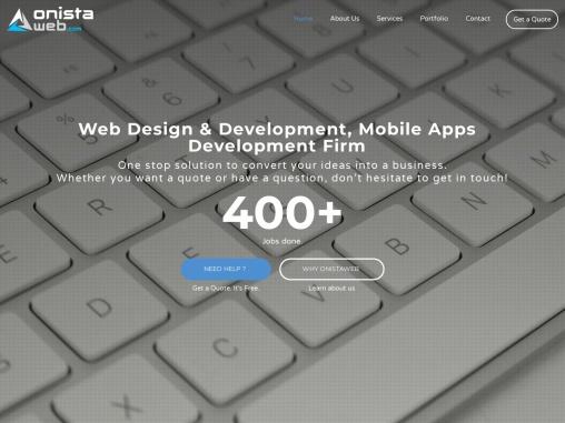 OnistaWeb for Web Design & Development, Mobile Apps Development Firm