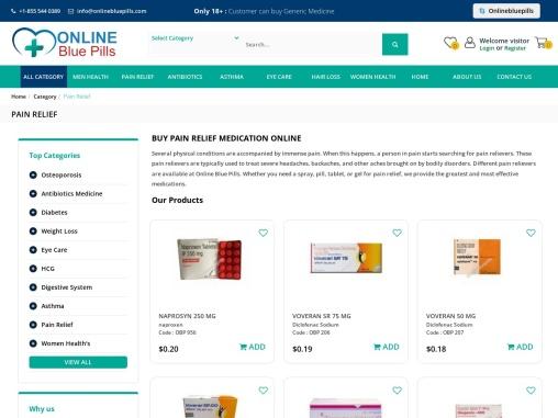 Buy Pain Relief Medicine Online in USA