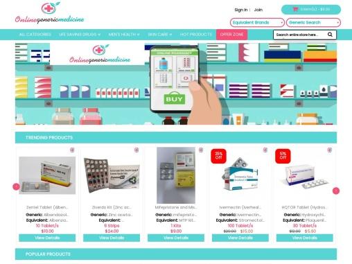 Buy Medicine from Trusted Online Pharmacy   OnlineGenericMedicine.com