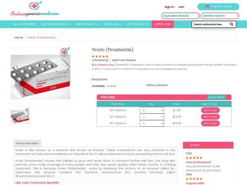 Buy Finpecia (Finasteride) Online   Buy At OnlineGenericMedicine.com