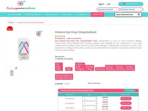 Buy Patanol Eye Drop Online   Buy At OnlineGenericMedicine.com