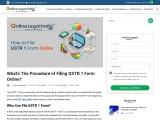 Procedure of Filing GSTR 1 Form Online