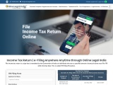File income tax return online quickly  , Visit onlinelegalindia for itr filing .