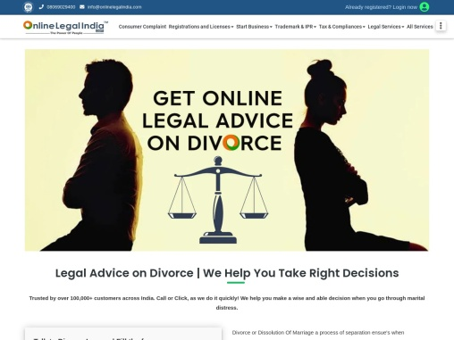 Legal Divorce Advice for those who are heading towards divorce . Consult Onlinelegalindia forum .