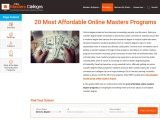 20 Most Affordable Online Masters Programs