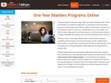 One Year Masters Programs