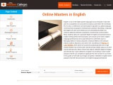 Masters in English Online 2021