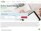 Sports Management Masters Online