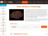 Masters in Psychology Online 2021