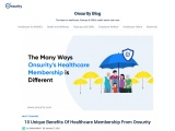 10 Unique Benefits Of Onsurity's Healthcare Membership