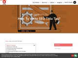 How to write SEO Title tag?  How to create best SEO title tags?
