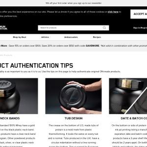 Authentic Products | Optimum Nutrition