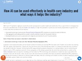 Healthcare AI Software Solution Company In UK | AI in Healthcare industry