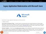 Leagacy Application modernization with microsoft azure | Azure Application Modernization