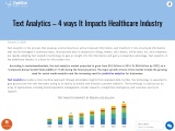 Text Analytics In Healthcare Industry | Impact of textanalytics in healthcare