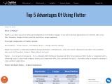 Advantages of Using Flutter | Flutter App Development Services In UK
