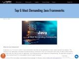 Top 6 Most Demanding Java Frameworks of 2021 – Custom Java software development company