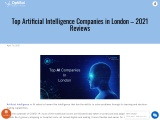 Top Artificial Intelligence Companies in London