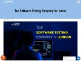 Top Software Testing Company In London,UK | Best Software Testing Company In UK