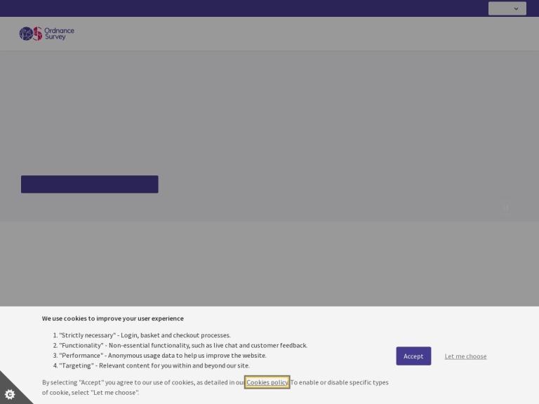 Ordnance Survey screenshot