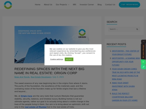 REDEFINING SPACES WITH THE NEXT BIG NAME IN REAL ESTATE: ORIGIN CORP