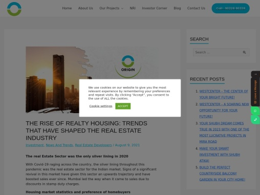 The Rise of Realty Housing: Trends that Have Shaped The Real Estate Industry