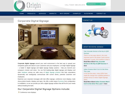 Digital Signage for Corporate Business