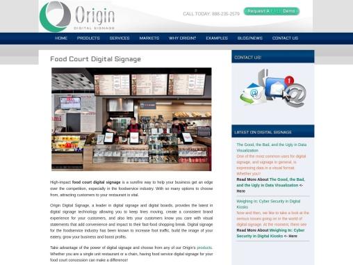 Digital Signage for Food Court