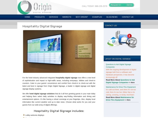 Hospitality Digital Signage Provider