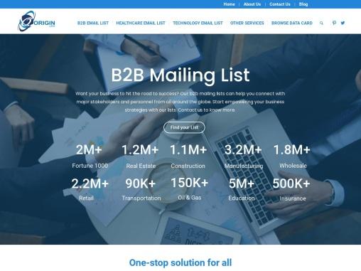 B2B Email List, Business Mailing List