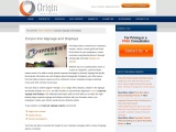 Corporate Signage & Message Boards from Origin Menu Boards