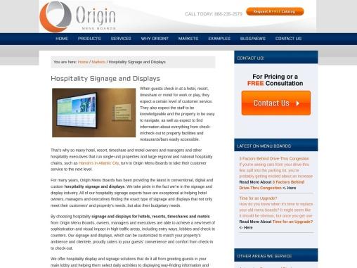 Hospitality Signage & Custom Menu Boards | Origin Menu Boards