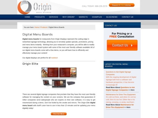 Digital Menu Boards for Restaurants – Origin Menu Boards