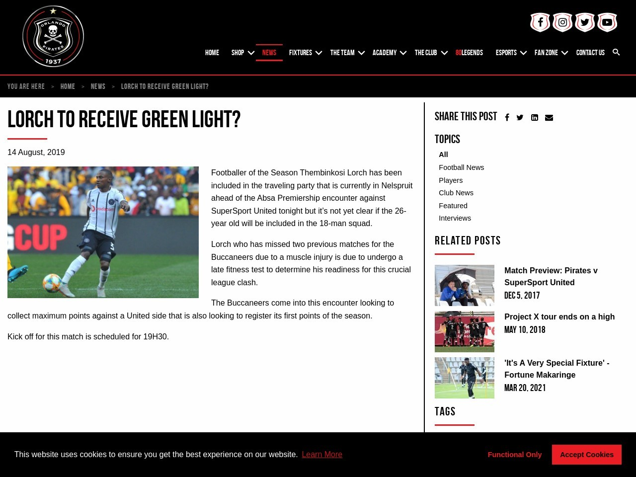 Lorch to Receive Green Light?