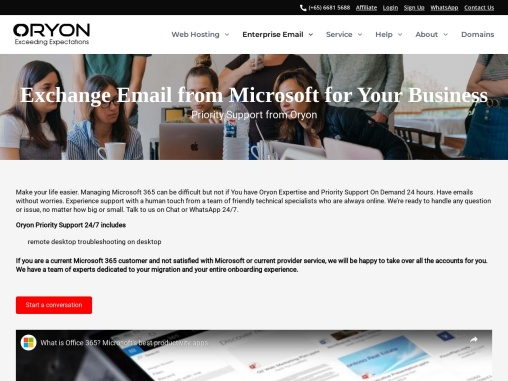 Say Goodbye to Office 365 Email Issues. 24/7 Priority Support by Oryon
